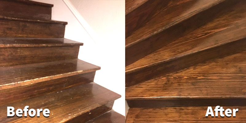 Refinish Hardwood Stairs